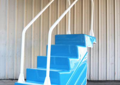 ADA Pool Stair in Light Blue