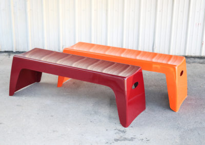 Easy Stack Bench in Dark Red and Orange