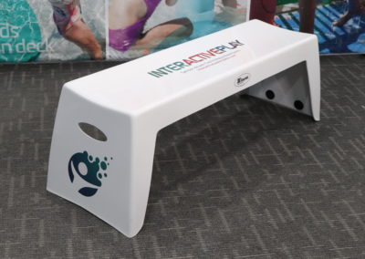 Side-View of Custom Easy Stack Bench in White