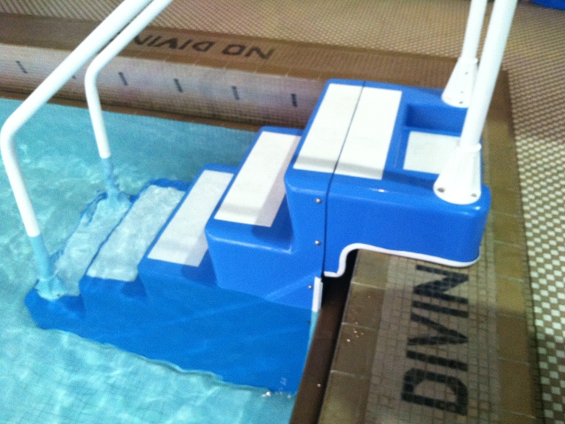 Installed ADA Easy Stair in Medium Blue